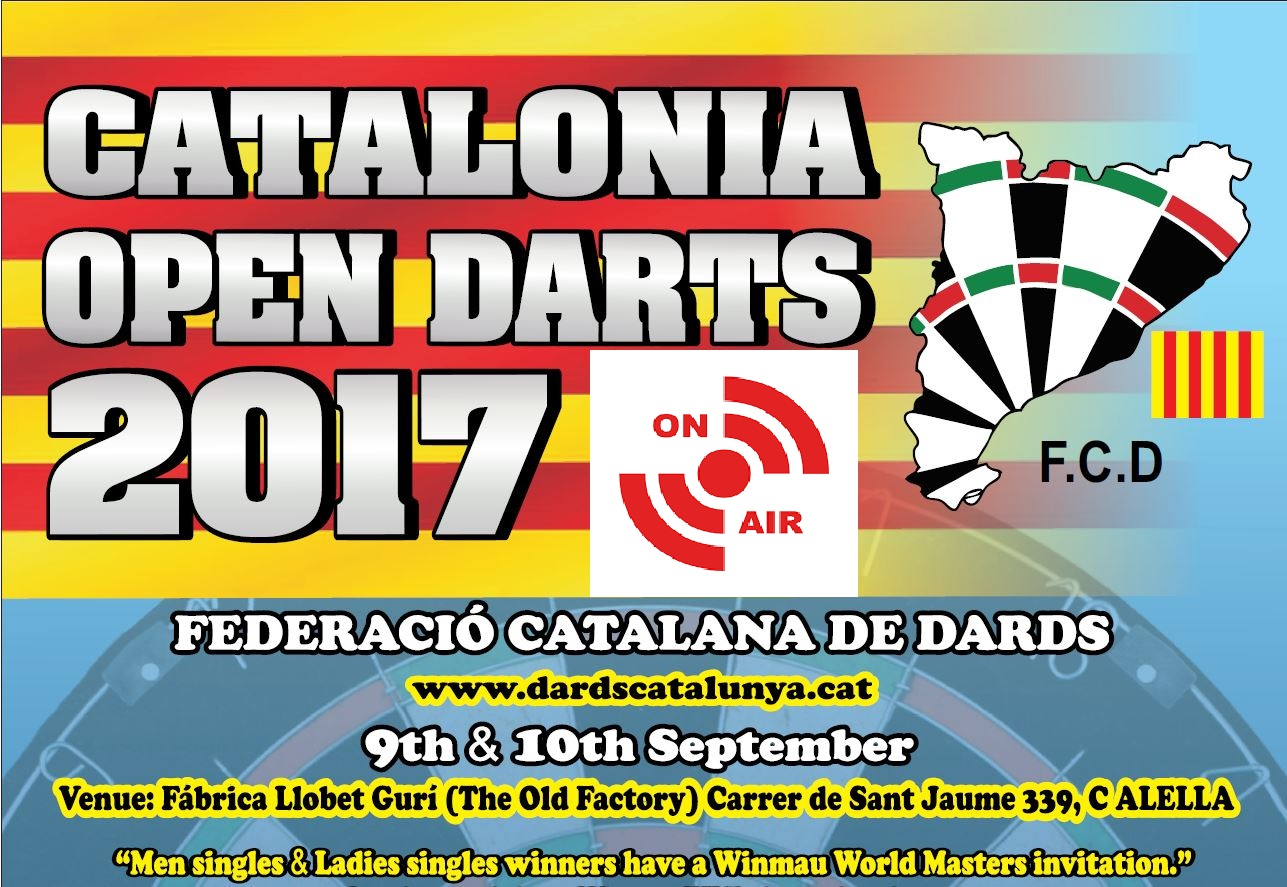 6th Catalonia Open Darts: #CataloniaOpen2017<br>Live Information