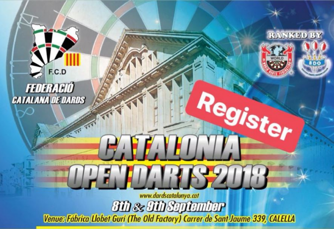 CATALONIA OPEN 2018 Register Now!!