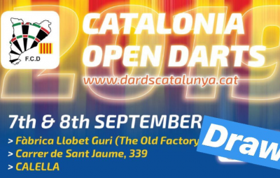 Catalonia Open Darts 2019: draw