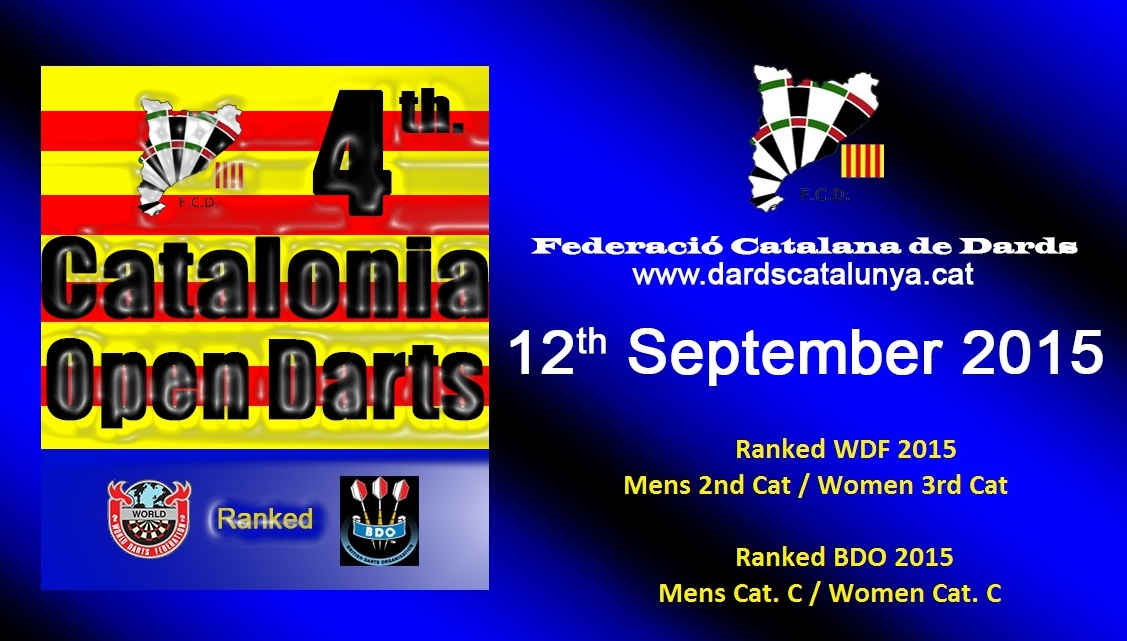 4th Catalonia Open Darts<br>Carles Arola (CAT) i Sharon Prins (NED)<br>Results + all bracket + statistics